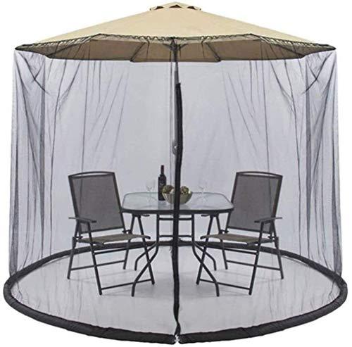 FGVDJ Paraguas de jardín al Aire Libre Su sombrilla en una glorieta Cubierta de mosquitera Cubierta de Red Cubierta de Malla con Cremallera Cubierta de Malla de Pure