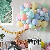 Kesote 120 Globos Látex Pastel Globos Macaron Pastel Helio para Decoración Cumpleaños Fiestas...