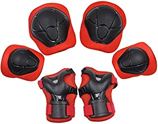 YOMYM Kids Knee Elbow Wrist Protective Guard Pads, BMX Inline Skating Scooter Rollerblade Cycling Skateboard Protective Ge...