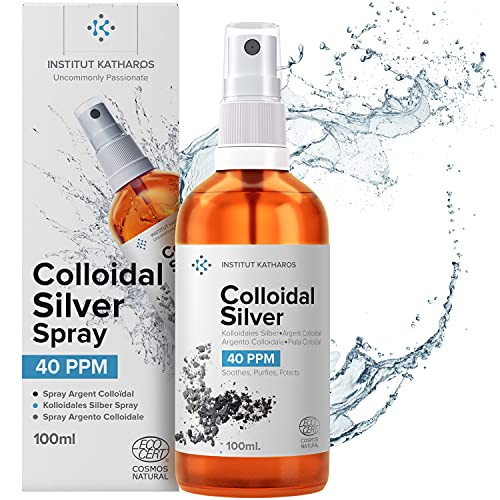 Premium Colloidal Silver Spray ● 40ppm 3.4 fl oz ● Optimal Concentration Formula, Smaller Particles, Better Results ● Laboratory Certified ● Liquid Silver with Free Spray Bottle to Fill & Ebook