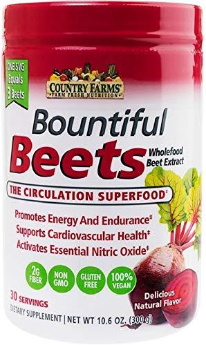SPORTS NUTRITION SOURCE Country Farms, Bountiful Beets, Fördert natürliche Energie und Ausdauer Herz-Kreislauf-Gesundheit, Delicious natürlich Flavor, 30 portionen, 1er Pack (1 x 300 g)