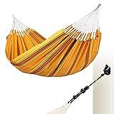 LA SIESTA - Currambera Apricot - Hamaca clásica Doble de algodón Incluye Set de Montaje