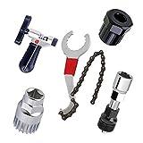 Cikuso Trousses d'outils de reparation de velo de montagne VTT Coupe-chaine/Enlevement de chaine/Demontage de support/demontage de roue libre/demontage de manivelle de bicyclette