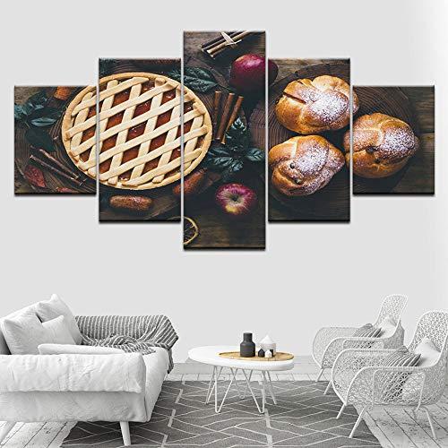 Hd-Afbeeldingen Schilderij Modulair Landschap Afdrukken Op Canvas Frameloze Brood Fruit Abstract Schilderij Home Wanddecoratie Canvas Olieverfschilderij Kunst Schilderij