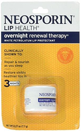 Neosporin Lip Health Overnight Renewal Therapy 0.27 Oz / 7.7 G