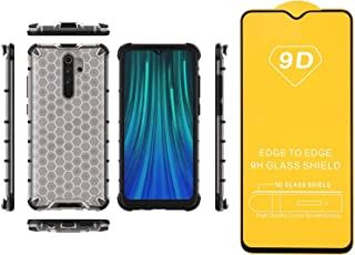 Xiaomi Redmi Note 8 Pro Iron Man Beehive Shockproof Cover Transparent Back Edges + Screen Protector