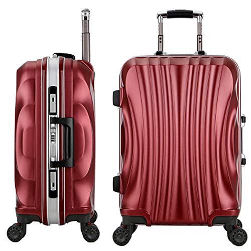 HWYP Aluminium frame bagage, trolley case vrouwelijke koffer mannelijke 20 inch lederen hard box universele wiel lock box stijlnaam size 7