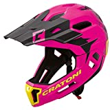 Cratoni C-Maniac 2.0 MX Downhill Freeride - Casco de bicicleta (mentón desmontable, talla M/L, 54-58 cm), color rosa y negro