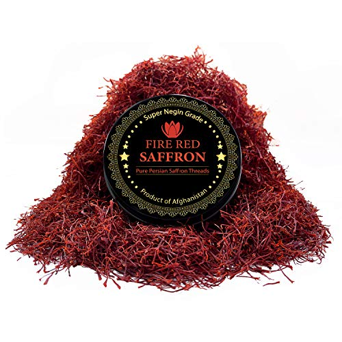 Persian Saffron Threads, Pure Red Saffron Spice Threads | Super Negin Grade | Highest Quality and Flavor | For Culinary Use Such as Tea, Paella Rice, Risotto, Tachin, Basmati, Rice (5 Grams)