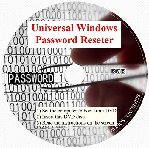 Recovery Boot Password Reset Better CD Disk- Works on All Windows Versions 10/7/XP/Vista/2000/98/ - No Internet Connection Required-Reset Lost Password-Windows Based (DVD-DISC, DVD-DISC)
