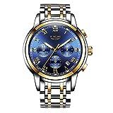 LIGE Relojes para Hombres Cronógrafo Impermeable Cuarzo Analógico Agua Vestido Moda Acero Inoxidable Negocios Reloj Hombres