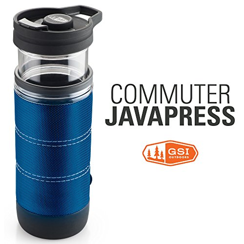 GSI Outdoors Commuter JavaPress, French Press Coffee Mug, Superior Backcountry Cookware Since 1985