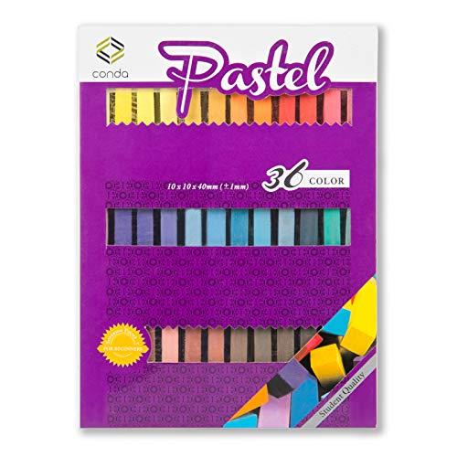 Conda - Tiza de dibujo pastel, 36 colores Pastel Para, Pasteles Para DibujoJuego de Tizas de Pastel