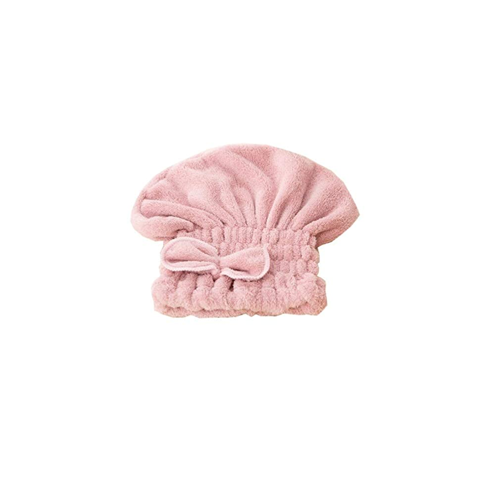 頭痛担当者服HEHUIHUI- シャワーキャップ、ダブルシャワーキャップ、レディース弾性防水シャワーキャップ HHH (Color : Pink)