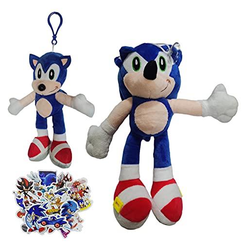 Juguetes de peluche Nuevo Super Sonic Mouse Colgante Super Sonic Cartoon Plush Toy Doll Bag Llavero Crane Machine Girl