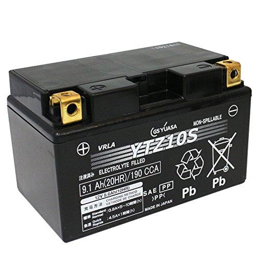 GS YUASA バイク用 バッテリー 液入り 充電済み YTZ10S ( FTZ10S / DTZ10S / CTZ10S / GTZ10S / TTZ10S 互換 )