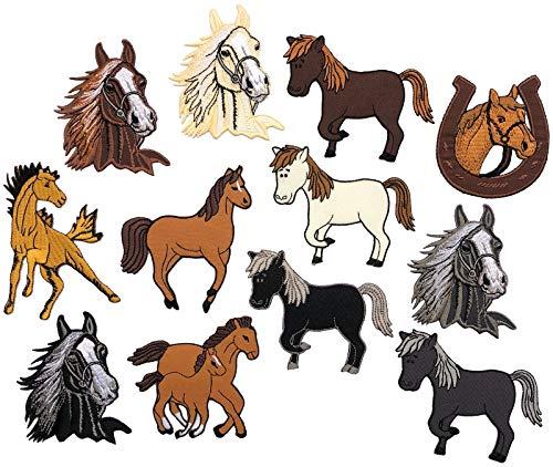 i-Patch - Patches - 0154 - Pferd - Pony - Einhorn - Fohlen - Pferdekopf - Pferde - Hufeisen - Reiten - Applikation - Aufbügler - Aufnäher - Sticker - zum aufbügeln - Flicken - Bügelbild - Badges