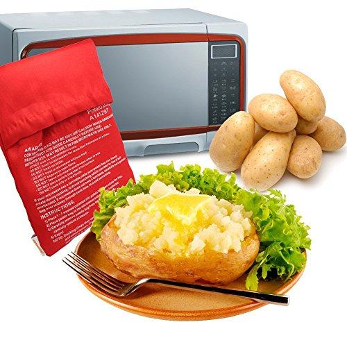 MyLifeUNIT Mikrowellentasche, Kartoffelbeutel für Bratkartoffeln, mikrowellengeeignet, Rot