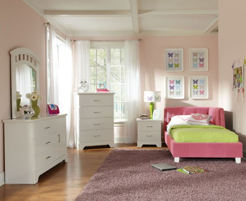 Hot Sale Standard Furniture My Room 5 Piece Kids' Daybed Bedroom Set In Pink Velvet