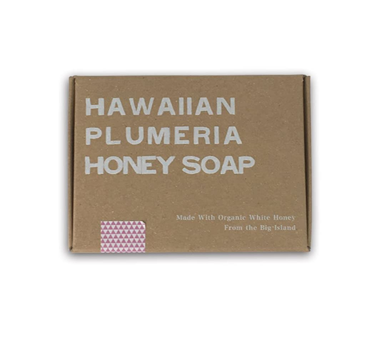 メナジェリー貞鳴らすホワイトハニーオーガニクス ハワイアン?プルメリア?ハニーソープ (Hawaiian Plumeria Honey Soap)