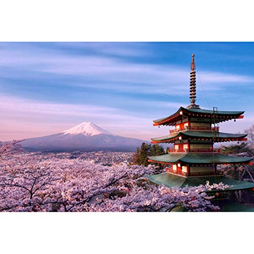 Japanse klassieke Scenery Cherry Blossom puzzel 500,1000,2000,4000 stukjes IQ Challenge houten puzzels