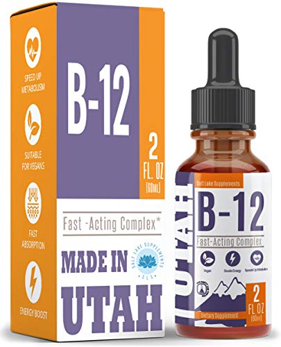Vitamin B12 Liquid - Sublingual B12 Drops - Vegan & Non-GMO - Instantly Boost Energy Levels and Speed Up Metabolism