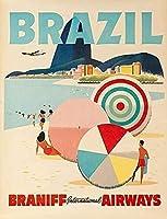 ブラジルヴィンテージスタイルメタルサインアイアン絵画屋内 & 屋外ホームバーコーヒーキッチン壁の装飾 8 × 12 インチ