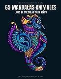 65 Mandalas Animales Libro de colorear para Niños: hermosos mandalas de animales para colorear en...