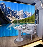 3D Printed Blackout Curtainsdigital Printing Design Distinctive Vertical Curtains, Cortinas Snow Mountain Print Simple Stylish Eyelet Curtains Breathable Insulation ,For Living Room Bedroom Kid Room