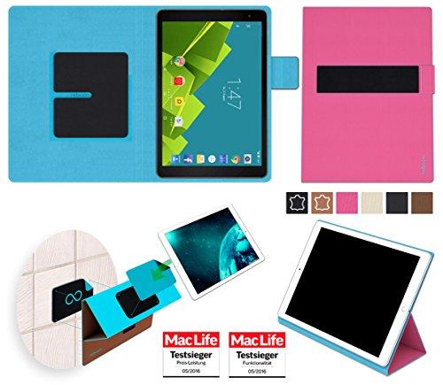 reboon Hülle für Vodafone Tab Prime 6 Tasche Cover Hülle Bumper | in Pink | Testsieger