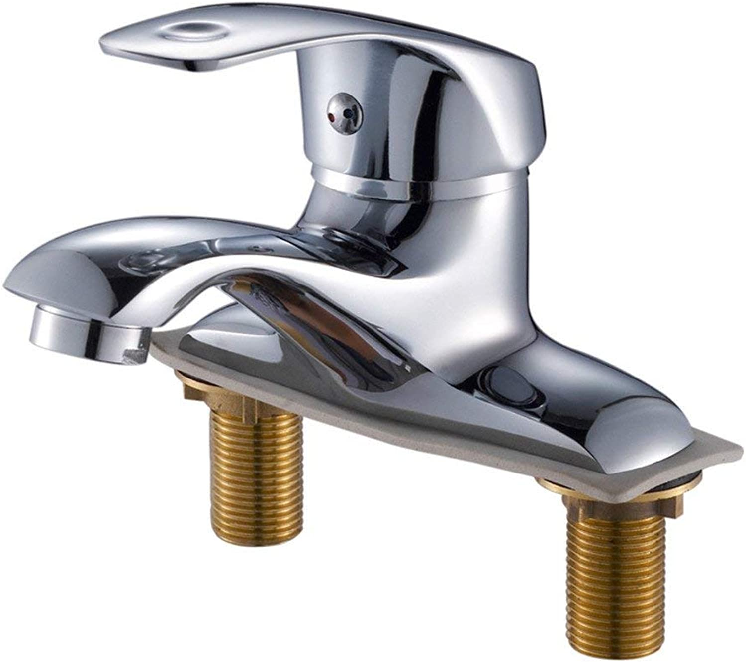 SEEKSUNG Water-taps Single Double Hole?Three Hole Basin?Two?hot and Cold?Copper?wash Basin?Bathroom Cabinet?Faucet Faucets