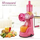 Floraware Plastic Fruit and Vegetable Juicer With Vacuum Locking System Pink