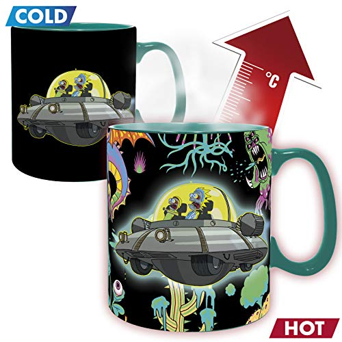 ABYstyle - Rick & Morty - Taza Cambia Color con Calor - 460 ml - Nave