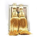 Un par de cortina alzapaños banda compresa borlas Diseño Cintas de cortina lianle