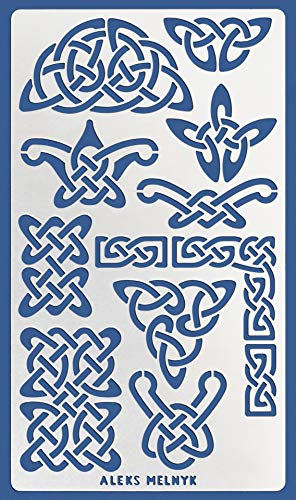 Aleks Melnyk #37.1 Metal Journal Stencil/Celtic Knot/Wicca, Irish Stencil, 1 PCS/Template for Painting, Wood Burning, Pyrography, Wood Carving, for Embroidery, Quilting/Scandinavian, Viking Symbol