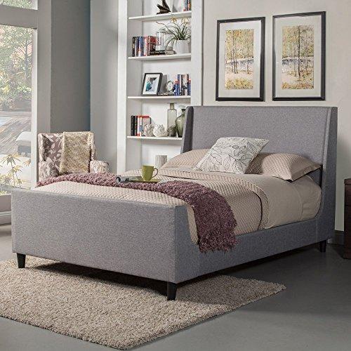 Alpine Furniture Amber Bed, Standard King, Gray