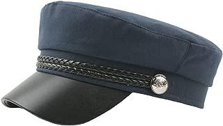 Yacht Sailor Captain Hat Linen Fiddler Fisherman Cap Newsboy