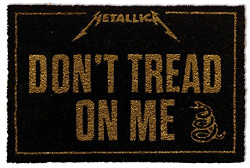 1art1 Metallica - Don't Tread On Me Felpudo Alfombra (60 x 40cm) ⭐