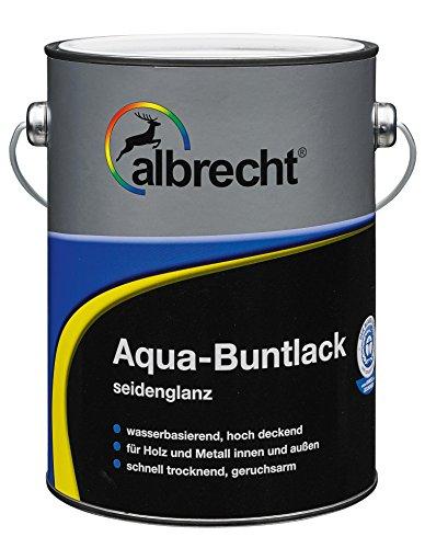 Lackfabrik J. Albrecht GmbH & Co. KG 3400505950901000375 Aqua-Buntlack seidenglanz 375ml, 9110 weiß