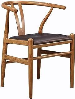 BTTNW Sillas De Cocina 2 sillas Moderno Restaurante del Hotel sólido de Comedor Sala de Estar Silla del Ocio Sillas De Comedor (Color : Marrón, Size : 50cm x 53cm x 73cm)