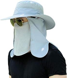MogogoMen Fishing Sunscreen Outdoor Summer Hat w/Neck Flap & Sun Protection