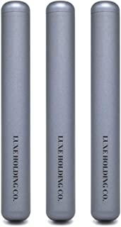 3-Pack Premium Gray Rolled Smoke Protector Doob Tube | Aluminum Metal Airtight Smell Proof | Stylish Everyday Carry EDC from LUXE HOLDING CO.
