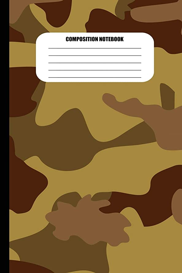 油いま懐疑論Composition Notebook: Camouflage (Brown Colors) (100 Pages, College Ruled) (Camo Patterns)