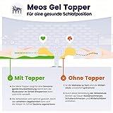 Meos® Gel-Schaum Topper 140×200 für Matratzen & Boxspringbett – Made in Germany – hohes RG 50 – Bezug bis 60°C waschbar – Matratzenauflage (140 x 200 cm) - 8