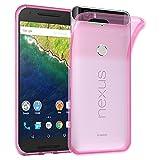 Cadorabo Hülle für Huawei Nexus 6P - Hülle in TRANSPARENT PINK – Handyhülle aus TPU Silikon im Ultra Slim 'AIR' Design - Silikonhülle Schutzhülle Soft Back Cover Case Bumper