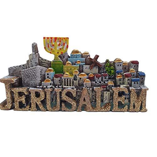 Terra Santa Gerusalemme Israele Medio Oriente Magnete per frigorifero 3D Turistico Souvenir Gift Collection anche un Desktop Piccoli ornamenti, decorazione per casa e cucina Adesivo magnetico