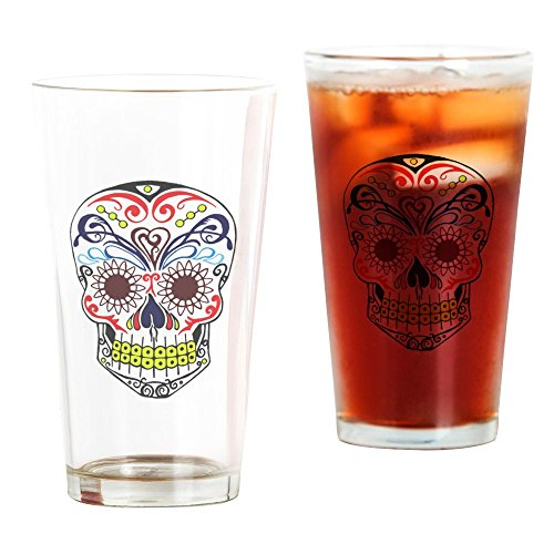 CafePress Sugar Skull Pint Glass, 16 oz. Drinking Glass