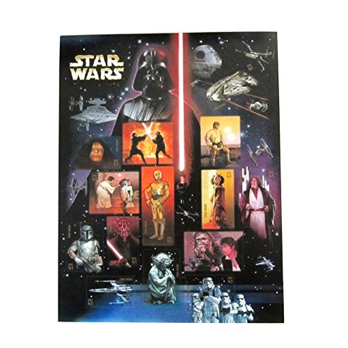 USPS Star Wars Collectible Sheet of Fifteen 41 Cent Stamps Scott 4143