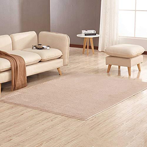 ruggito Super Soft Fluffy Short Shaggy Rug Anti-Slip Carpet Mat Living Room Large Area Rugs Modern Floor Bedroom Extra Non Shedding(Brown)