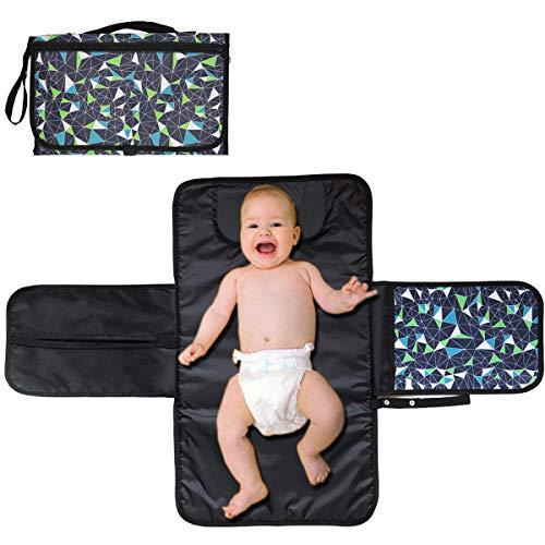 ViVidLife Fasciatoio Portatile, Fasciatoio Portatile Kit, Fasciatoio Pieghevole da Viaggio Pieghevole Impermeabile Fasciatoio con Cuscino Poggiatesta Tasche per Neonato Esterno Bambini